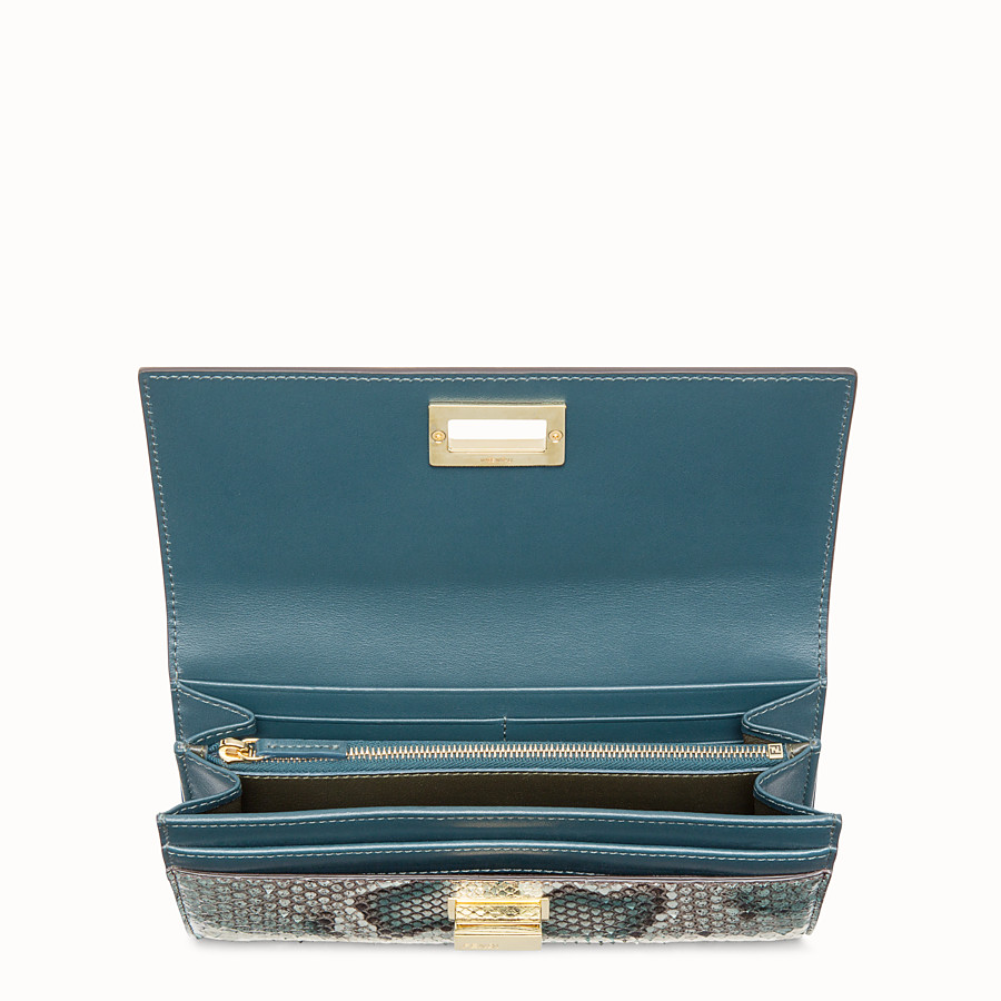 FENDI CONTINENTAL - Green python wallet - view 4 detail