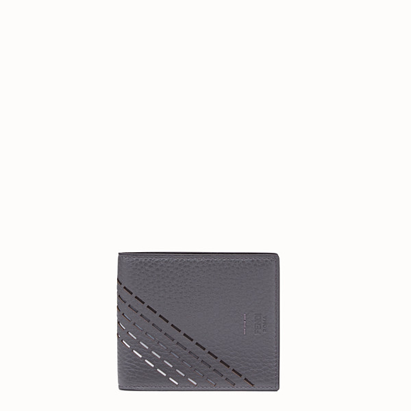 FENDI WALLET - Grey, calf leather bi-fold wallet - view 1 small thumbnail