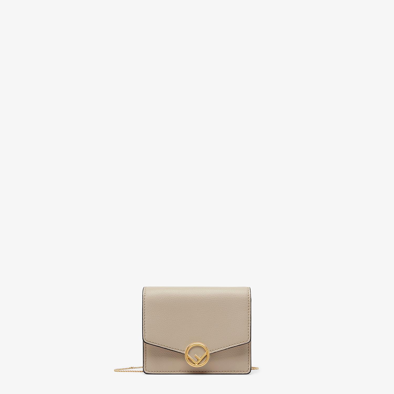 FENDI PORTEMONNAIE MIT TRAGEKETTE - Mini-Tasche aus Leder in Beige - view 1 detail
