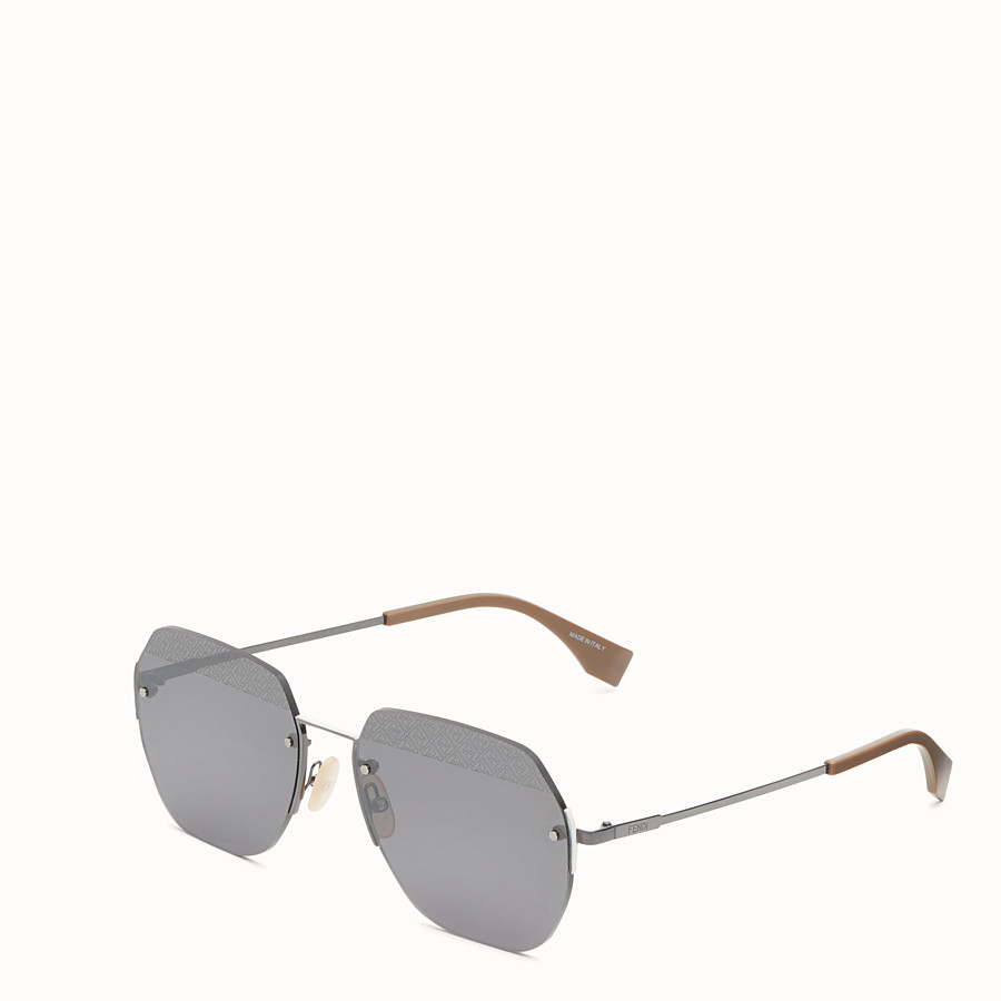 FENDI FF - Black ruthenium sunglasses - view 2 detail