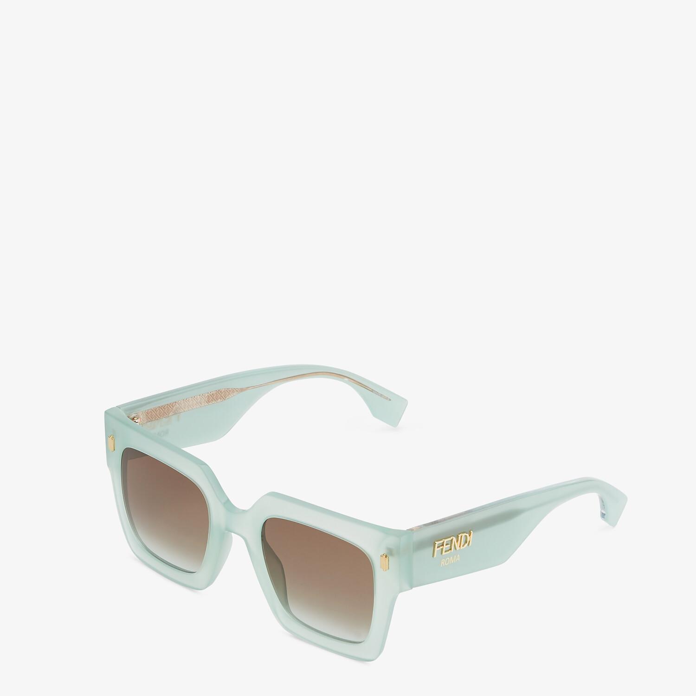 FENDI FENDI ROMA - Green acetate sunglasses - view 2 detail