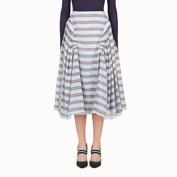 FENDI SKIRT - Light blue silk and cotton skirt - view 1 small thumbnail