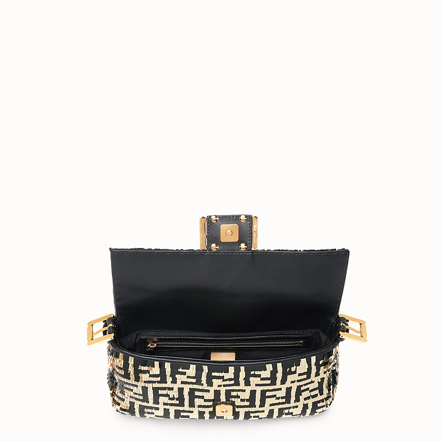 FENDI BAGUETTE - Bag with black and gold sequins - view 4 detail