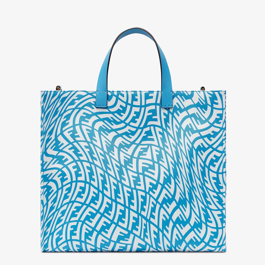 FENDI SHOPPER - Blue glazed canvas bag - view 4 detail