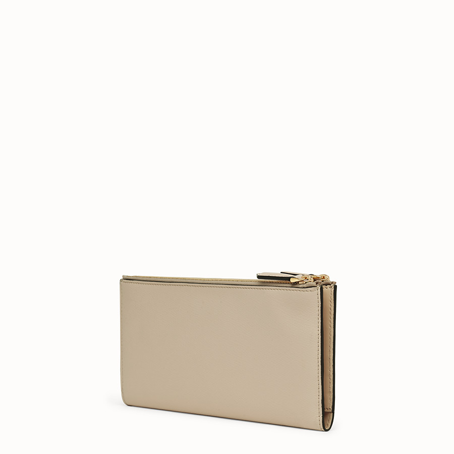 FENDI BIFOLD - Beige leather wallet - view 2 detail
