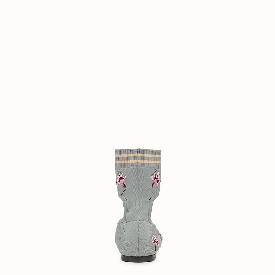 FENDI BALLERINA - Flat in tessuto grigio - vista 3 dettaglio