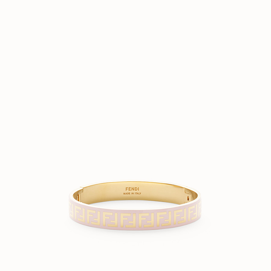 FENDI FF BRACELET - Gold and pink coloured bracelet - view 1 detail