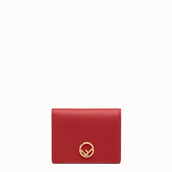 FENDI BIFOLD - Red leather compact wallet - view 1 small thumbnail