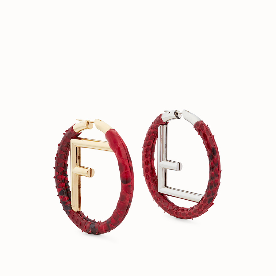 FENDI BOUCLE D'OREILLE F IS FENDI - Boucles d'oreilles rouges - view 1 detail
