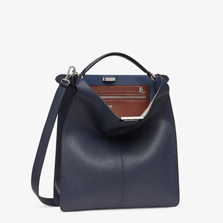 FENDI PEEKABOO ISEEU TOTE - Dark blue leather bag - view 4 detail