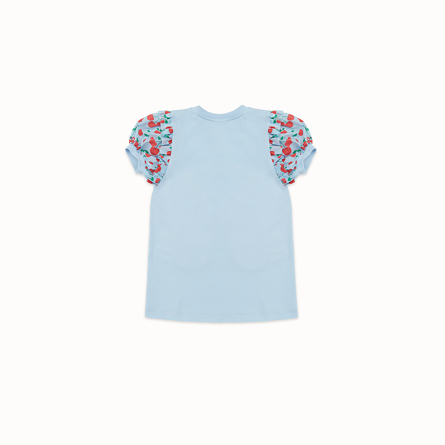 FENDI T-SHIRT - Sky blue jersey T-shirt - view 2 detail