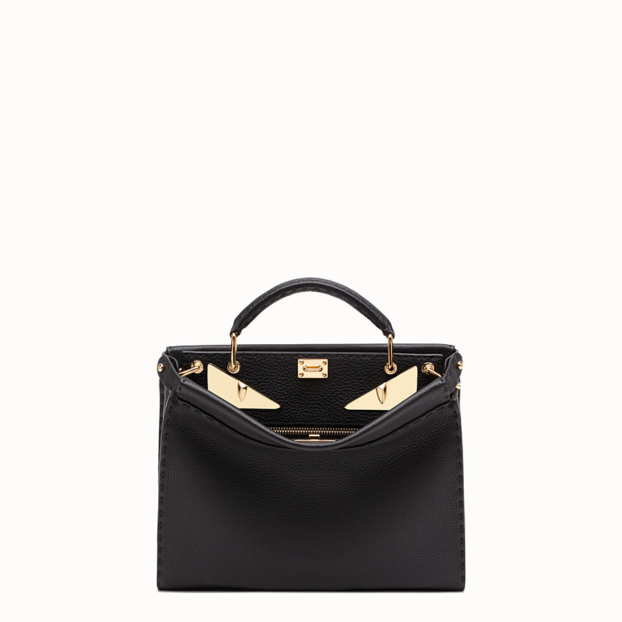 FENDI PEEKABOO ICONIC FIT MINI - Tasche aus Leder in Schwarz - view 1 detail