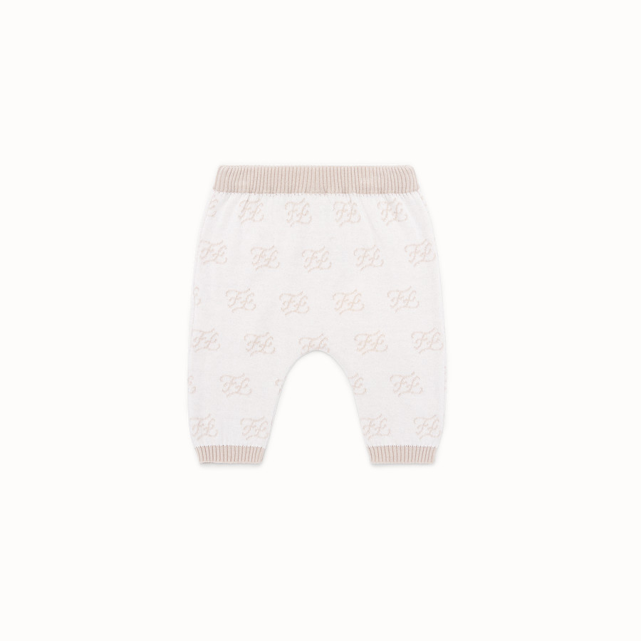 FENDI KNITTED BABY TROUSERS - Knitted baby trousers - view 2 detail