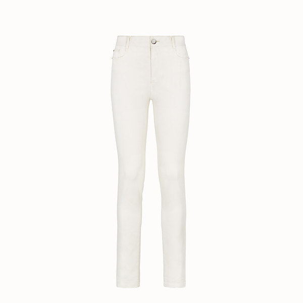 FENDI TROUSERS - White denim trousers - view 1 small thumbnail