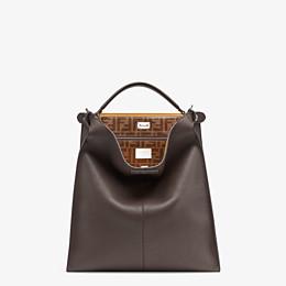 FENDI PEEKABOO X-LITE FIT - Brown leather bag - view 2 thumbnail