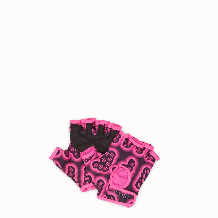 FENDI GLOVES - Gloves in pink fabric - view 1 detail