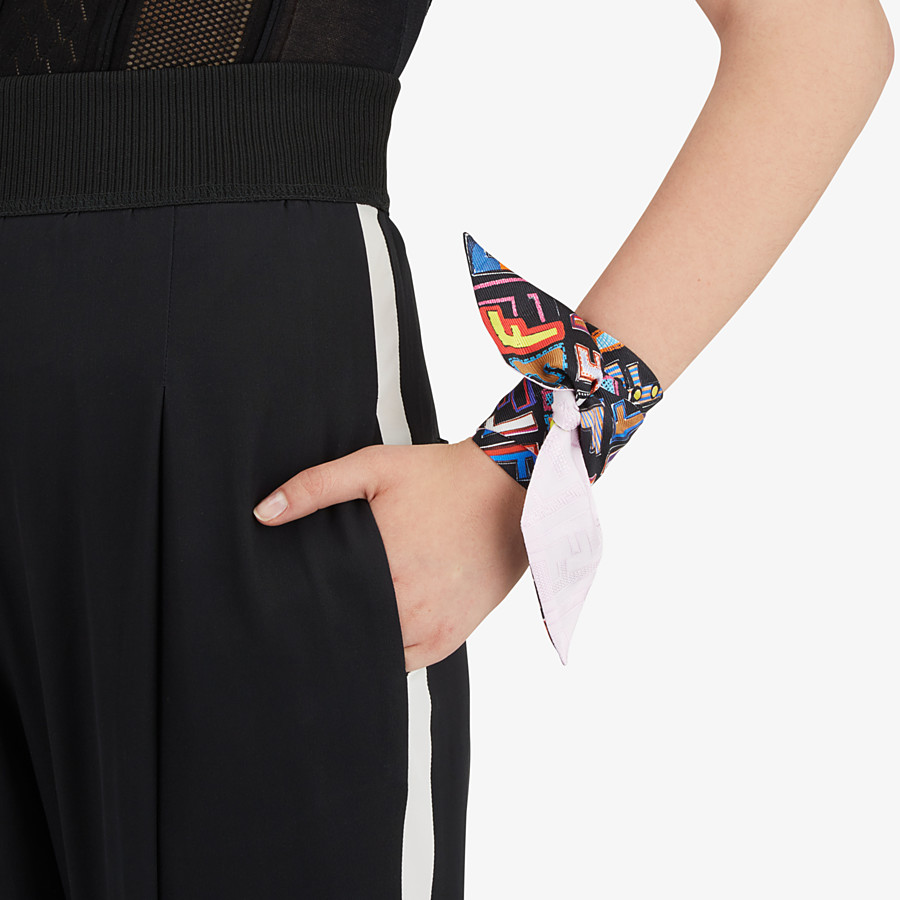 FENDI FUN FENDI WRAPPY - Multicolour silk bandeau - view 3 detail