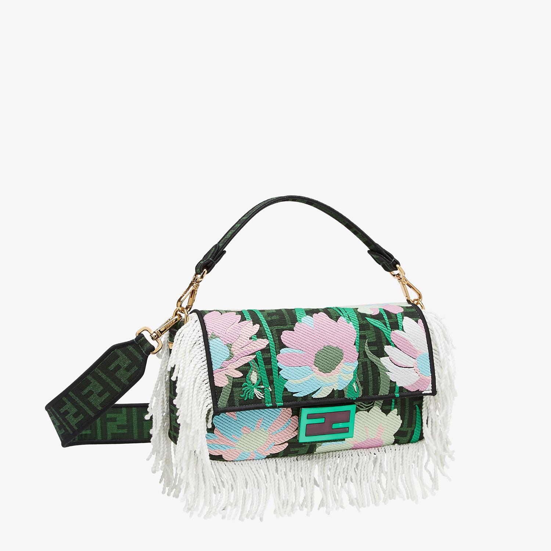 FENDI BAGUETTE - Green fabric bag - view 3 detail