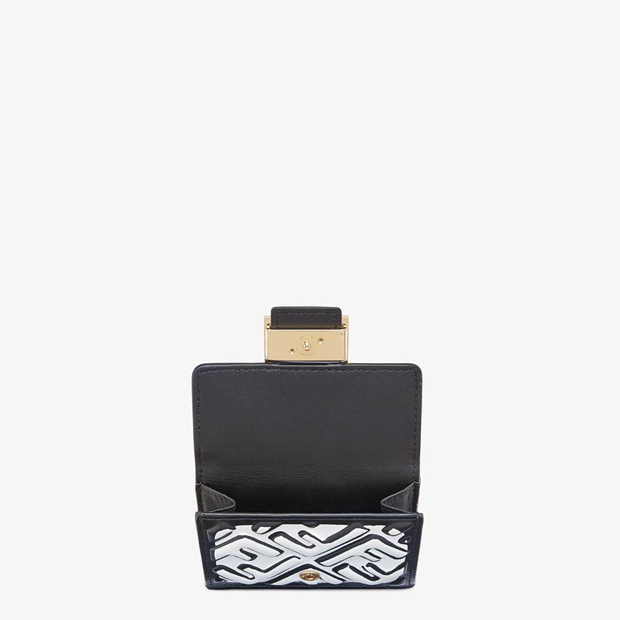FENDI マイクロ 三つ折り財布 - ホワイトナッパレザー 財布 - view 3 detail