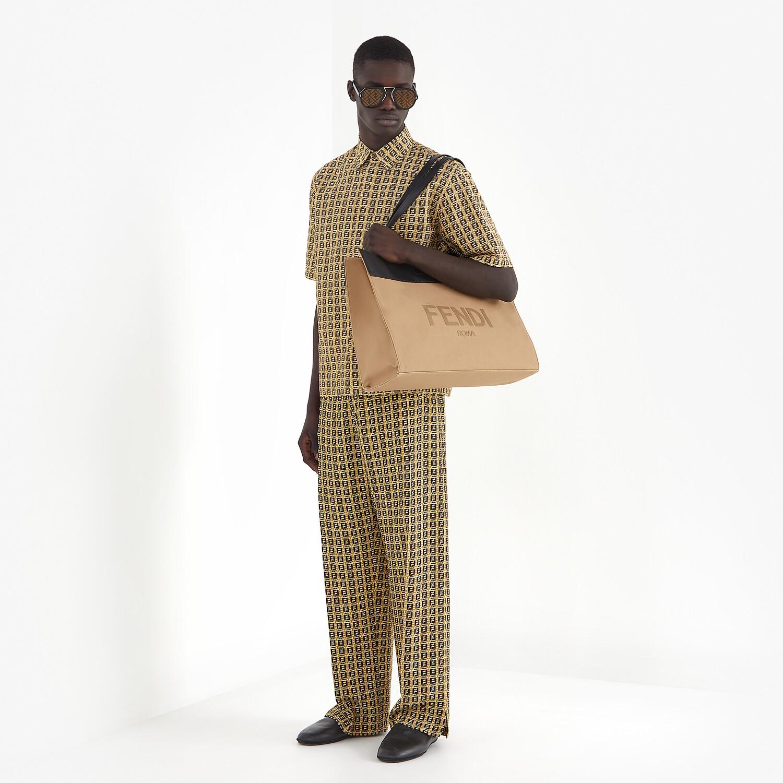FENDI TROUSERS - Beige gabardine trousers - view 4 detail