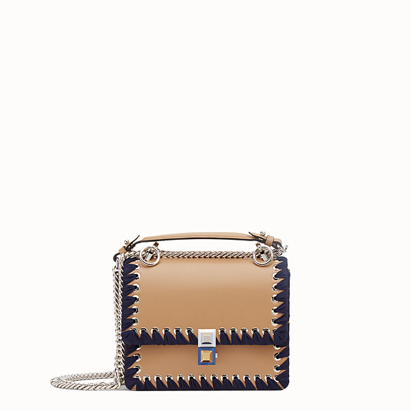 FENDI PETIT KAN I - Mini-sac en cuir couleur naturelle - view 1 small thumbnail