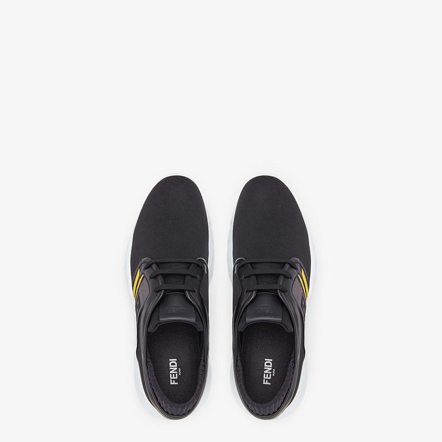 FENDI SNEAKERS - Black tech fabric sneakers - view 4 detail
