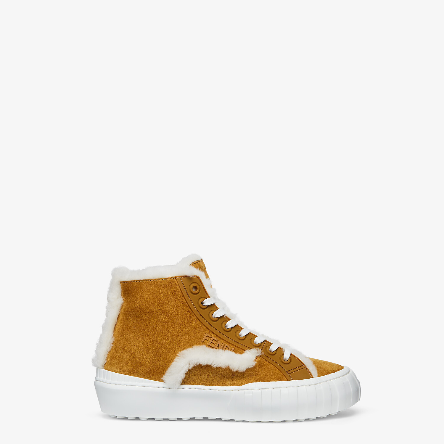 FENDI FENDI FORCE - Yellow suede high-tops - view 1 detail