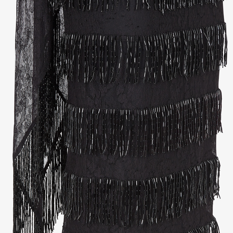 FENDI DRESS - Black lace dress - view 3 detail