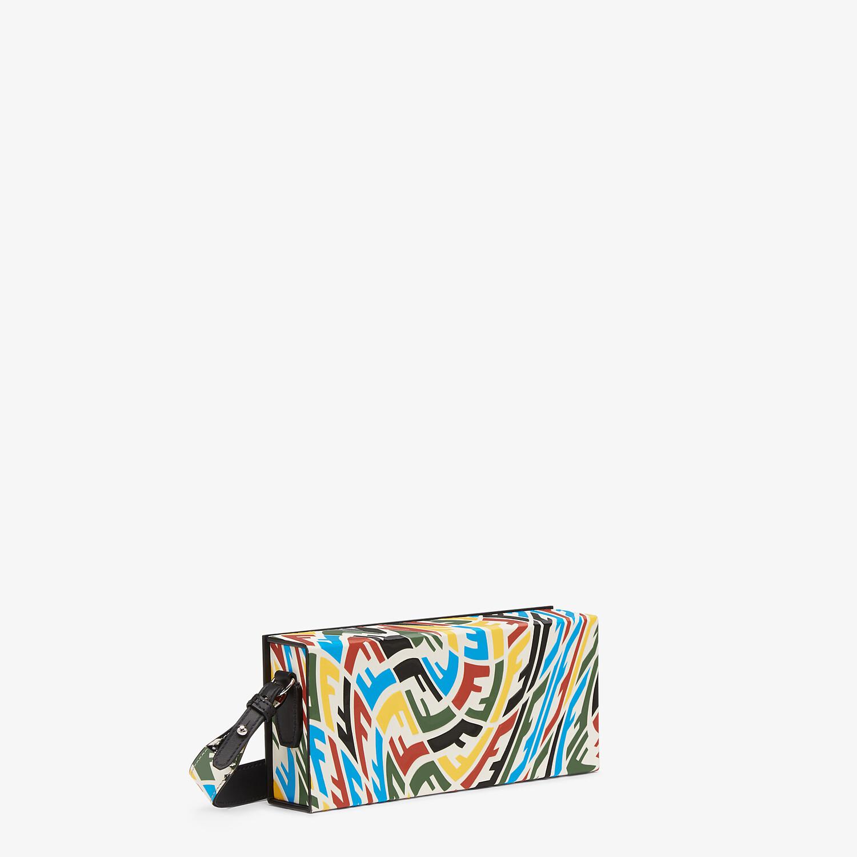 FENDI HORIZONTAL BOX - Multicolour FF Vertigo leather bag - view 2 detail