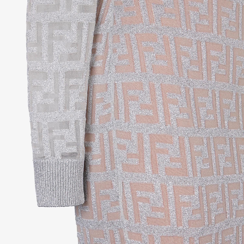 FENDI ABITO - Abito in maglia argento - vista 3 dettaglio