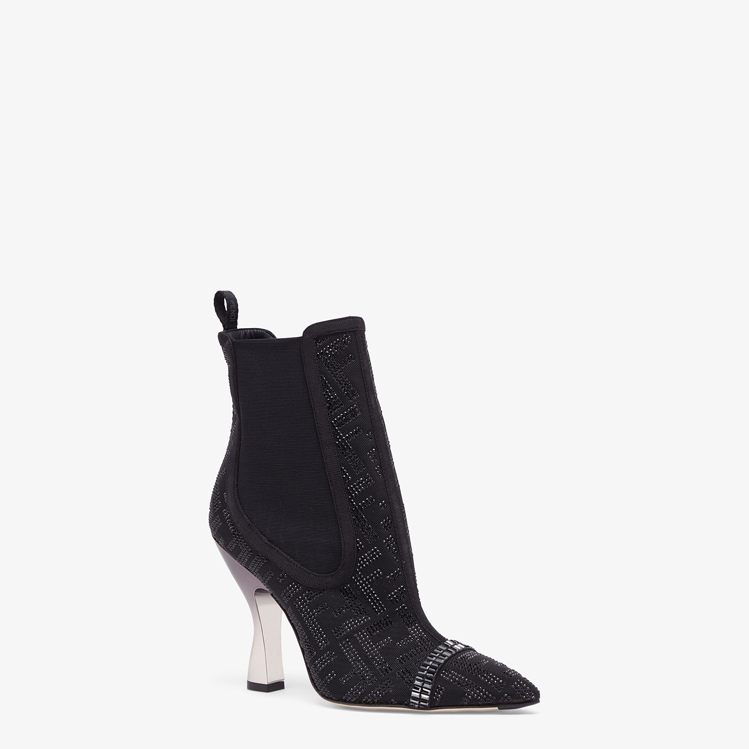 FENDI ANKLE BOOTS - Colibrì in black mesh - view 2 detail