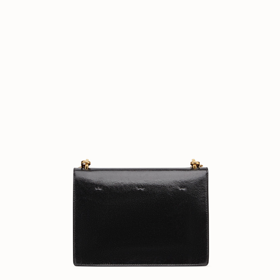 FENDI KAN U - Black leather bag - view 3 detail