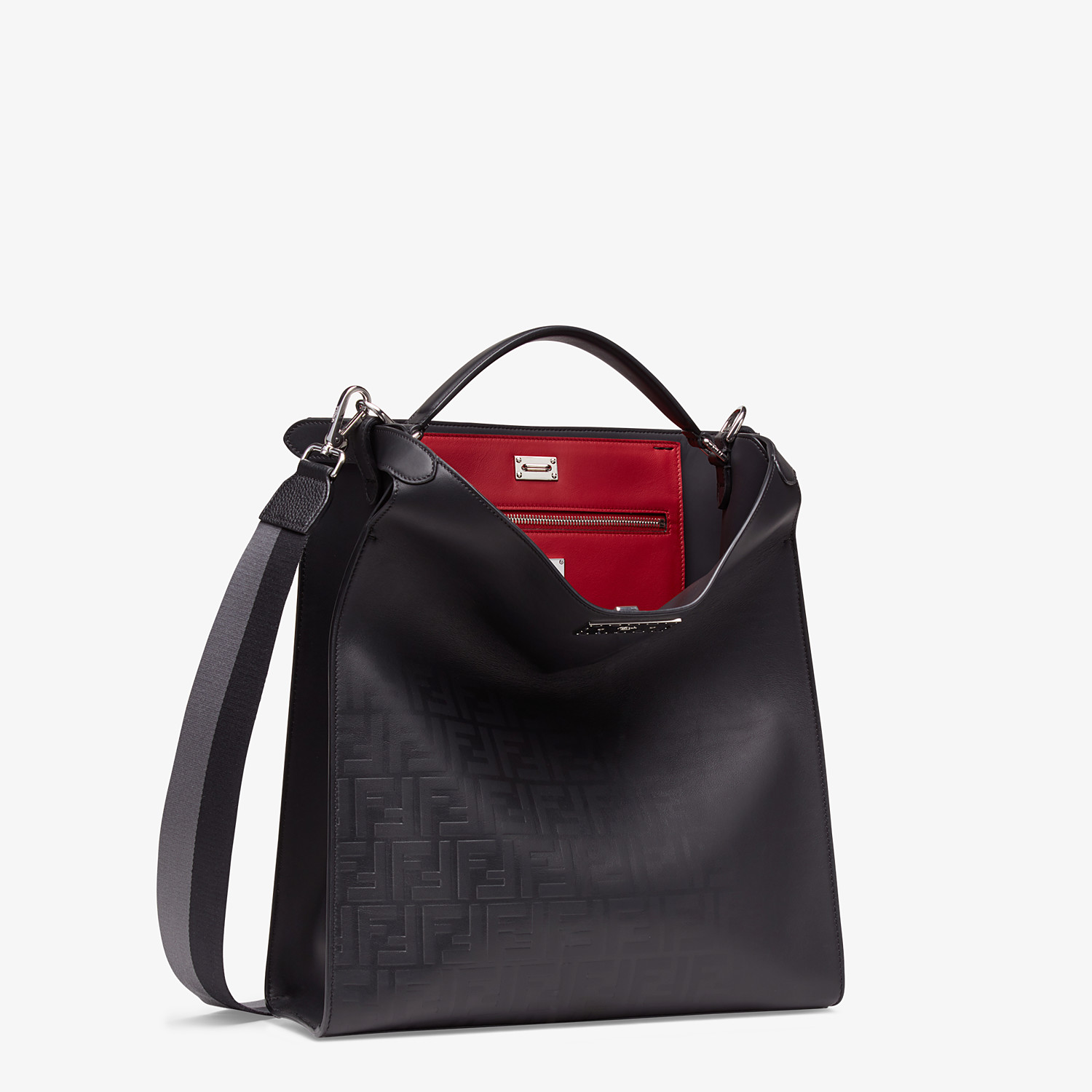 FENDI PEEKABOO X-LITE FIT - Black calfskin bag - view 3 detail