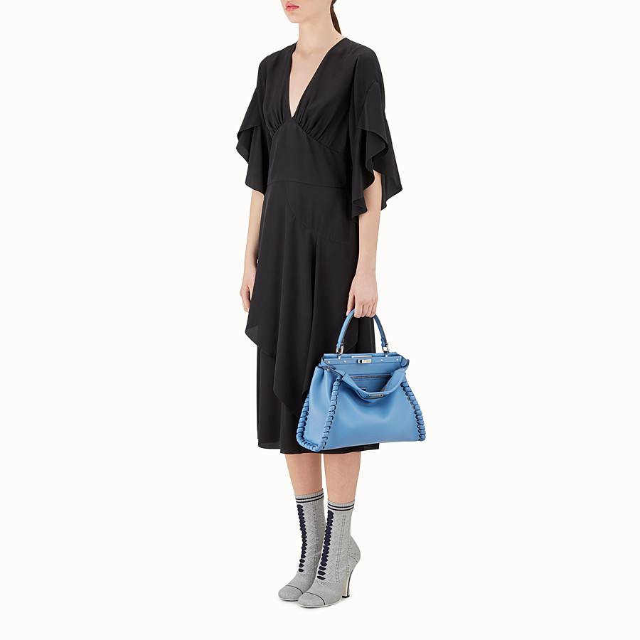 FENDI PEEKABOO REGULAR - Light blue leather bag - view 5 detail