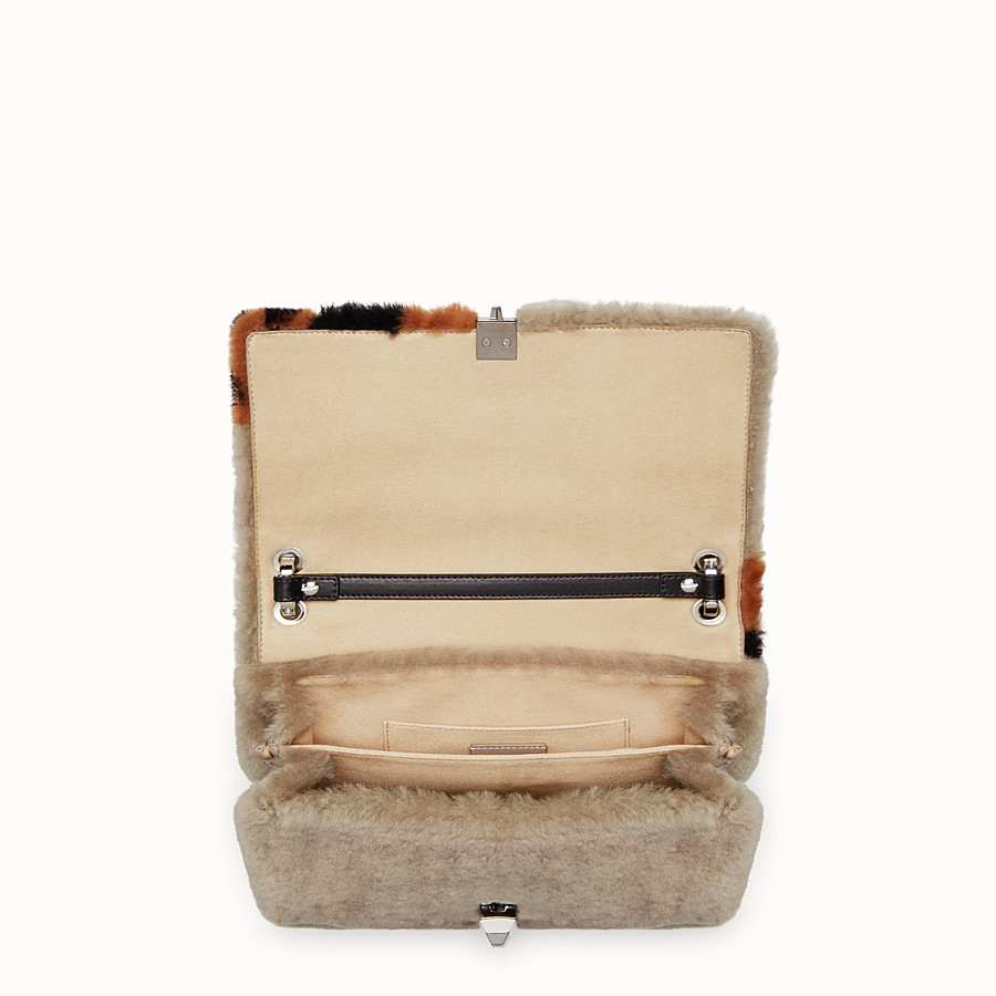 FENDI KAN I - Multicolor sheepskin bag - view 4 detail