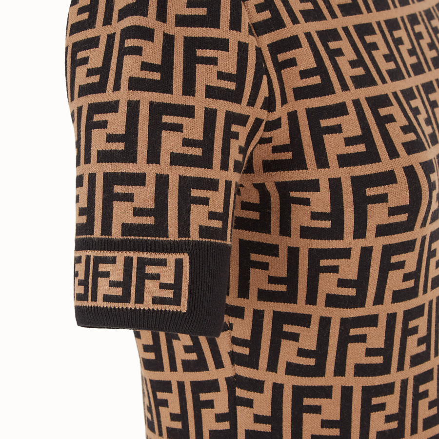 FENDI DRESS - Multicolour fabric dress - view 3 detail