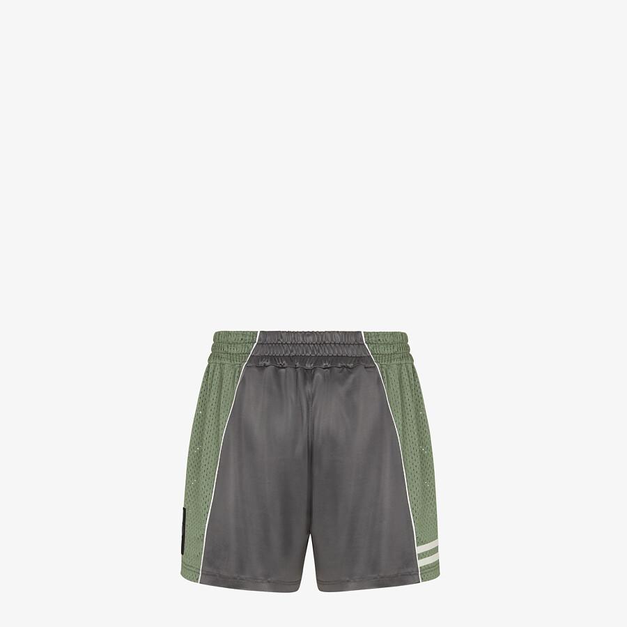 FENDI SHORTS - Gray tech fabric pants - view 2 detail