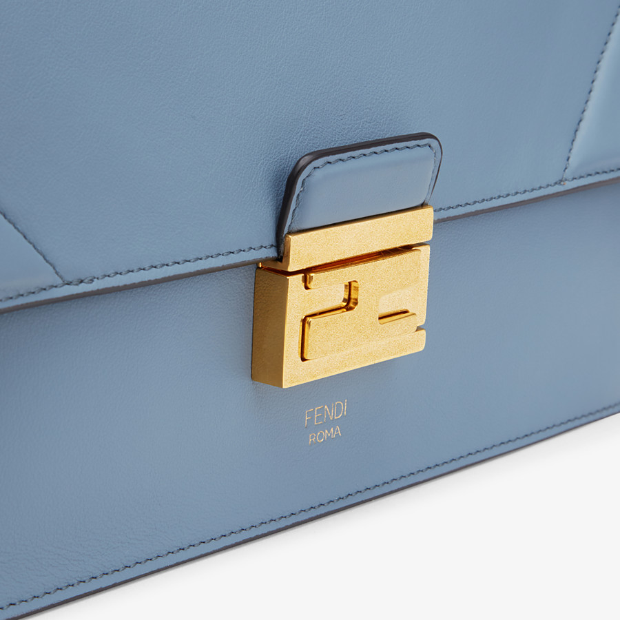 FENDI KAN U - Light blue leather bag - view 6 detail