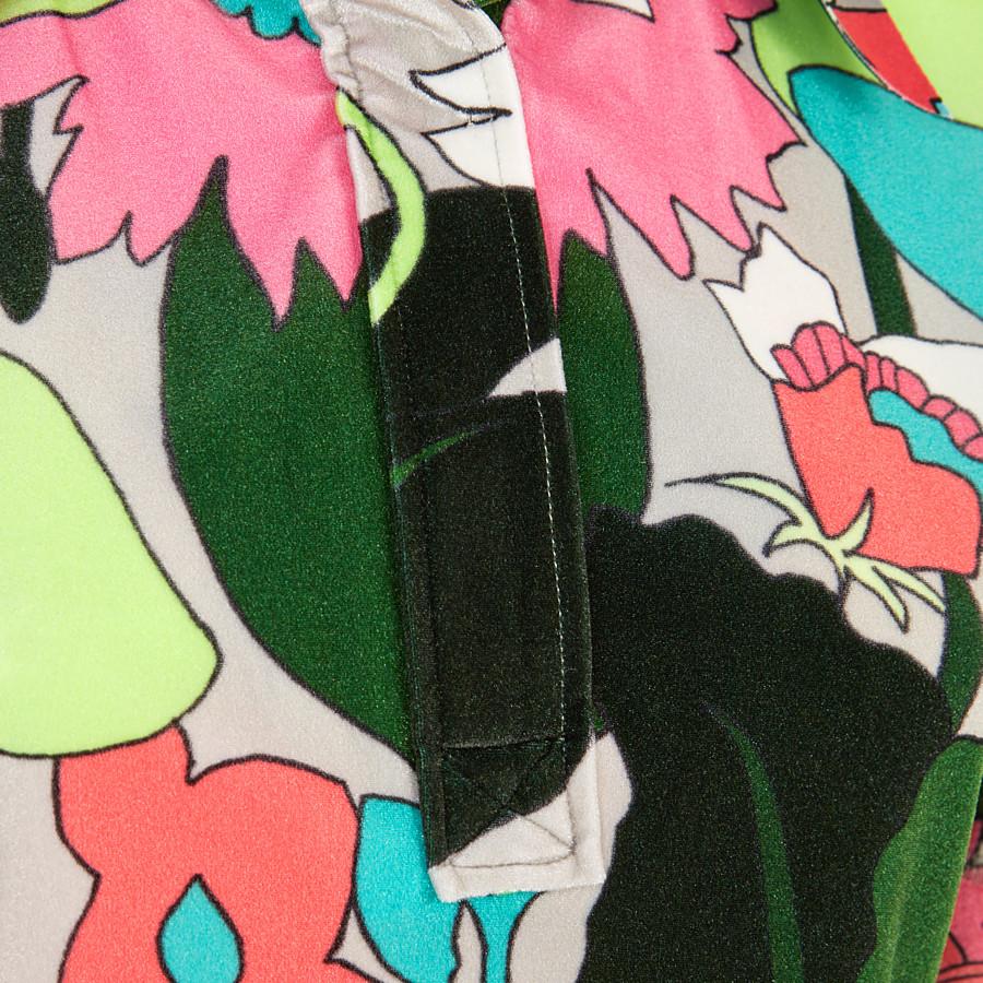 FENDI TOP - Multicolour chenille polo shirt - view 3 detail