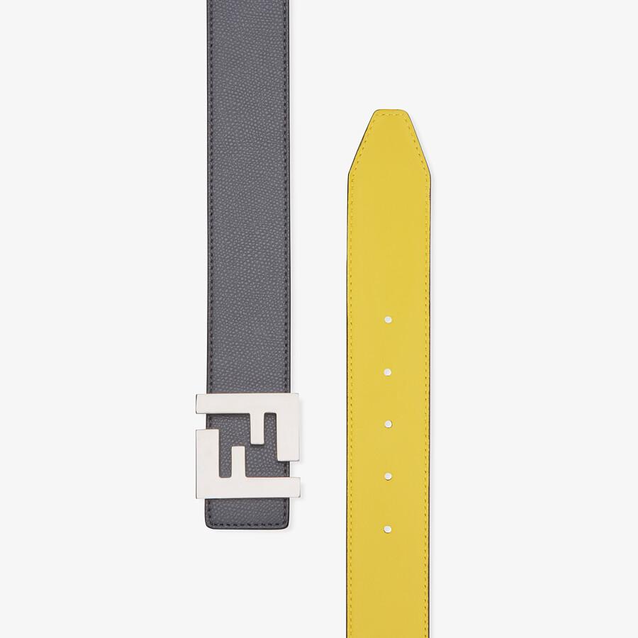 FENDI BELT - Grey leather belt - view 2 detail