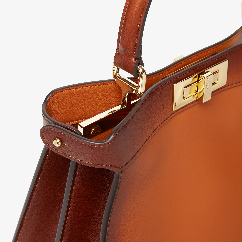 FENDI MITTELGROSSE PEEKABOO ISEEU - Tasche aus Leder in Braun - view 7 detail