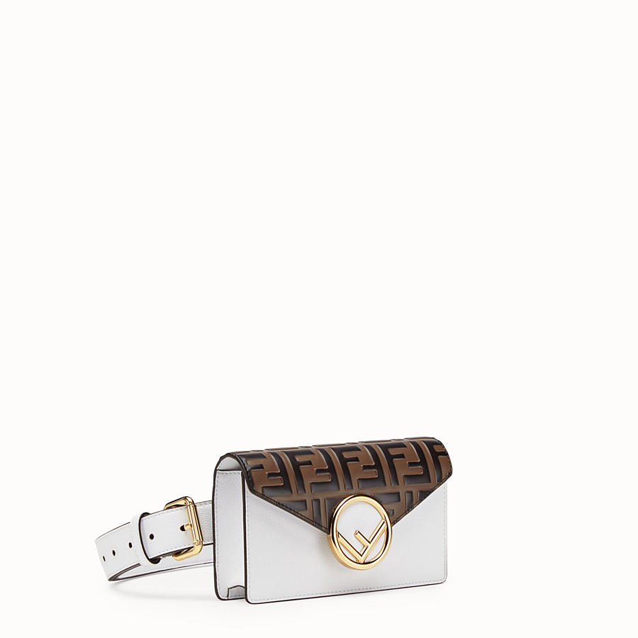 FENDI BELT BAG - White leather belt bag - view 2 detail