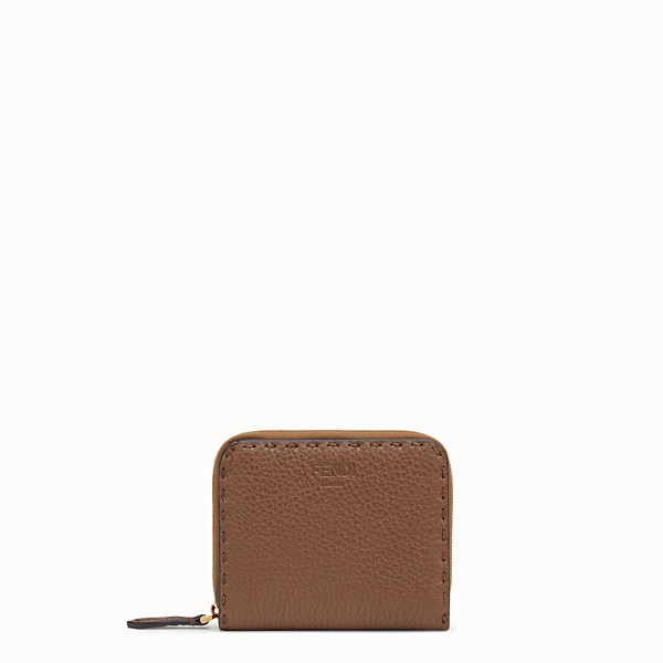 FENDI MEDIUM ZIP-AROUND - Brown leather wallet - view 1 small thumbnail