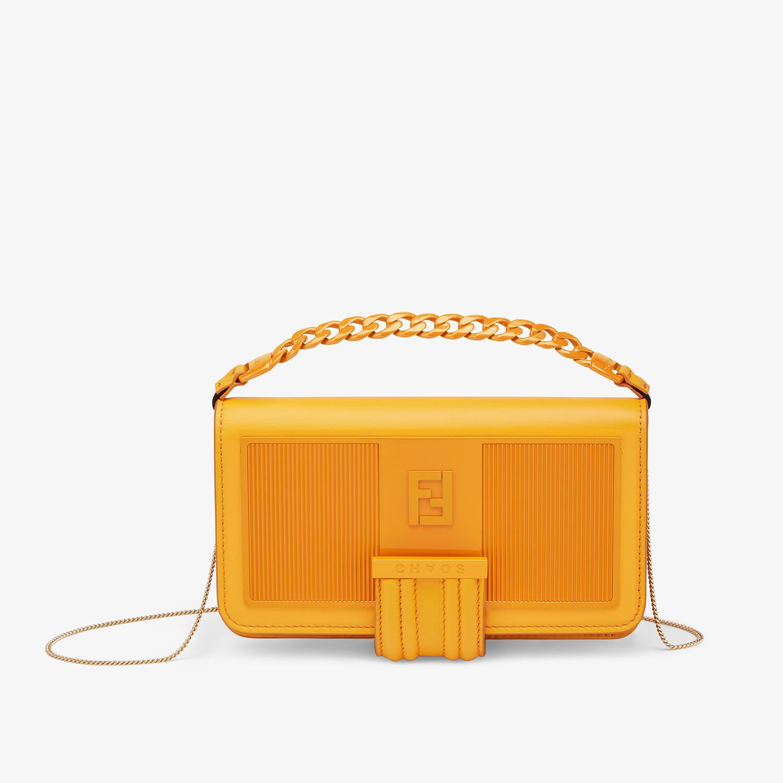 FENDI SMARTPHONE CASE - Orange nappa leather case - view 1 detail