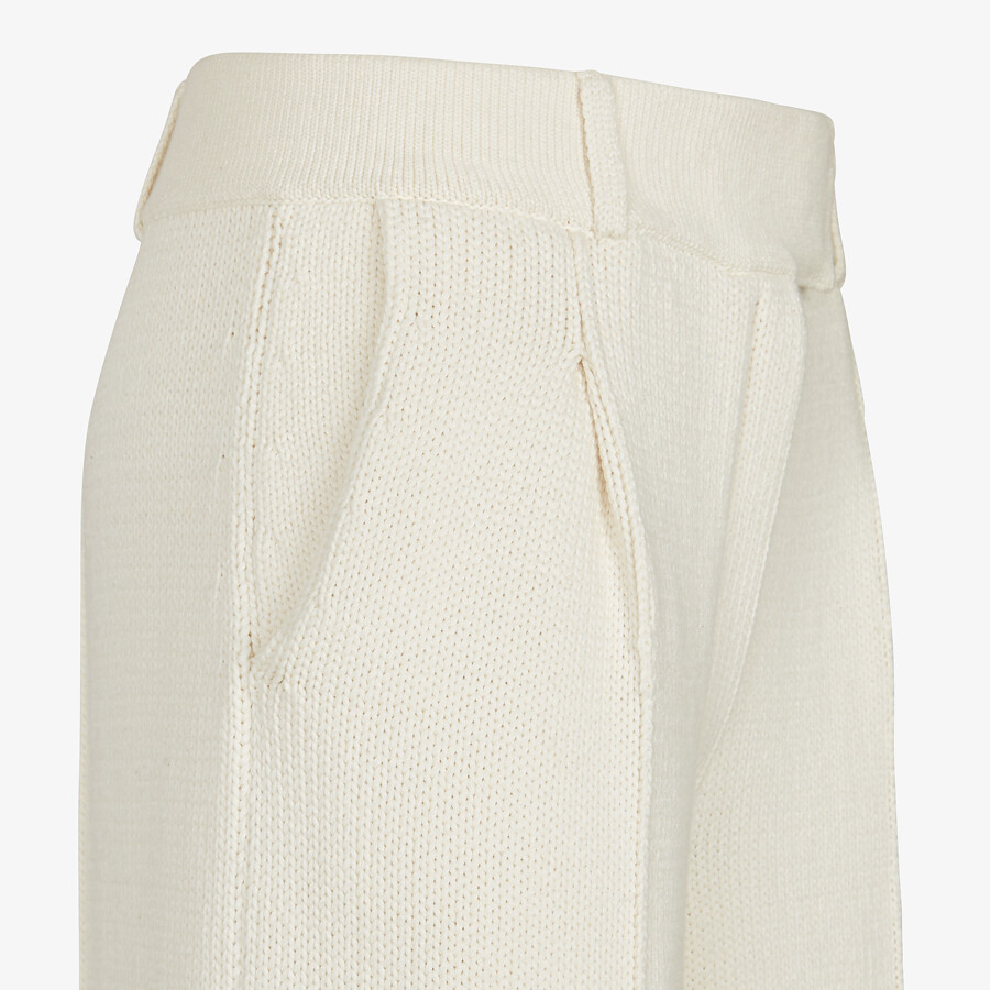 FENDI PANTS - White cotton pants - view 3 detail