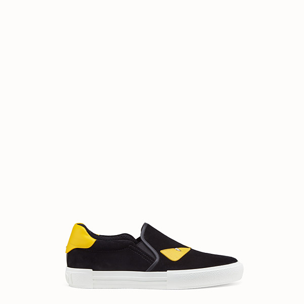 FENDI SNEAKER - Black leather slip-on - view 1 small thumbnail