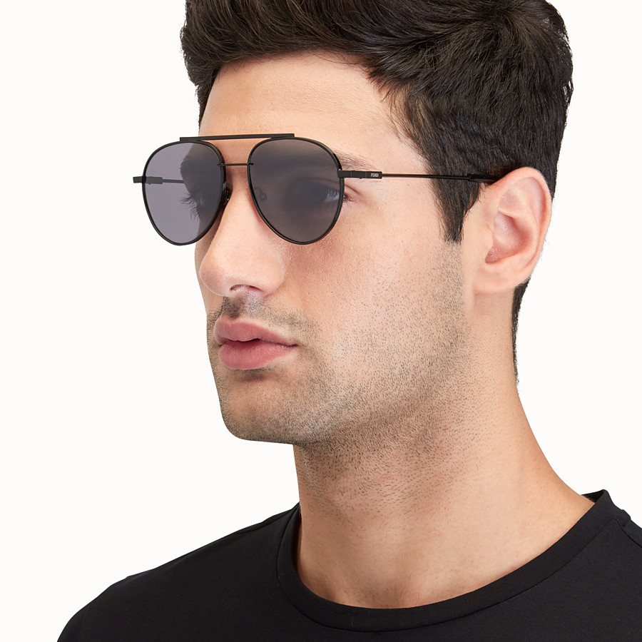 FENDI FENDI AIR - Black sunglasses - view 4 detail