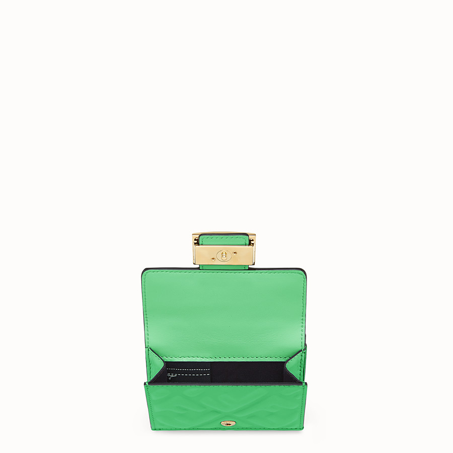 FENDI MICRO TRIFOLD - Green nappa leather wallet - view 3 detail