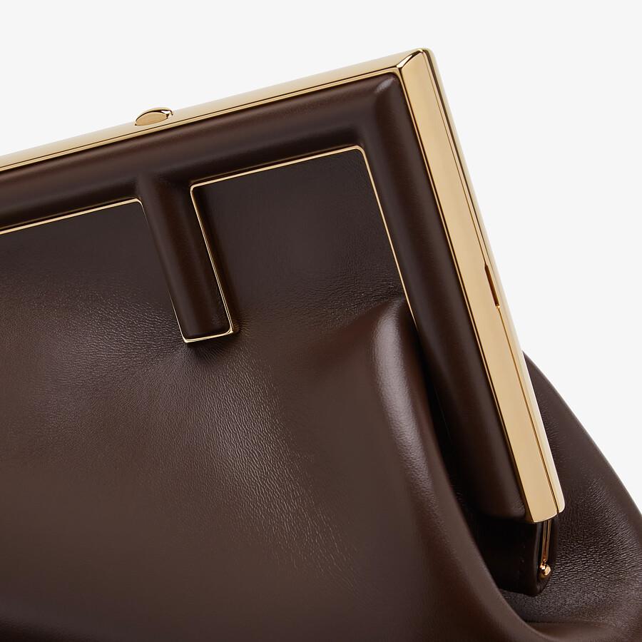 FENDI FENDI FIRST SMALL - Dark brown leather bag - view 5 detail