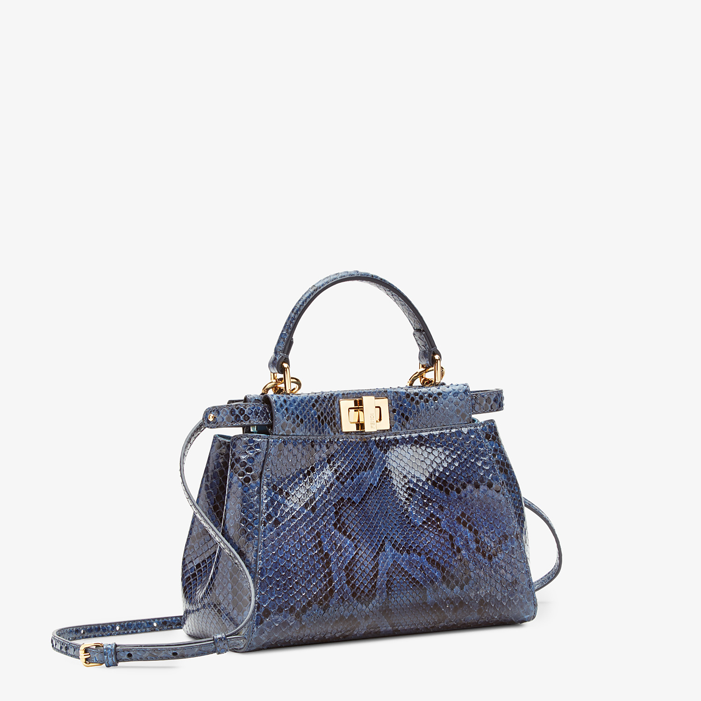 FENDI PEEKABOO ICONIC MINI - Blue python handbag. - view 2 detail